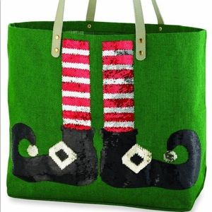 Brand New Elf Shoe Holiday Tote by MUD PIE
